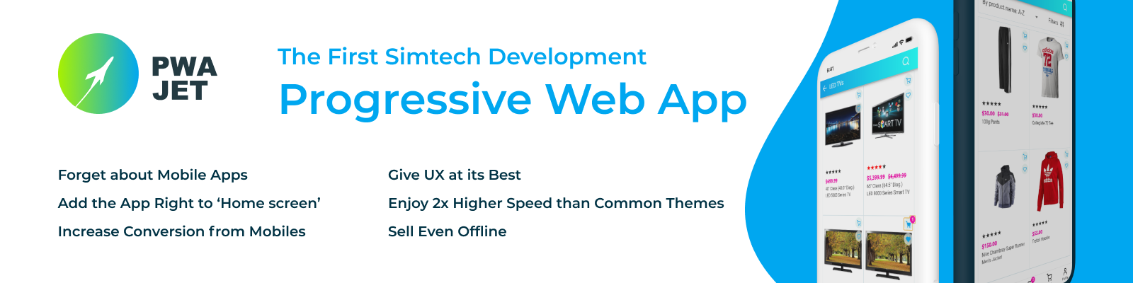 First progressive web application by Simtech Development