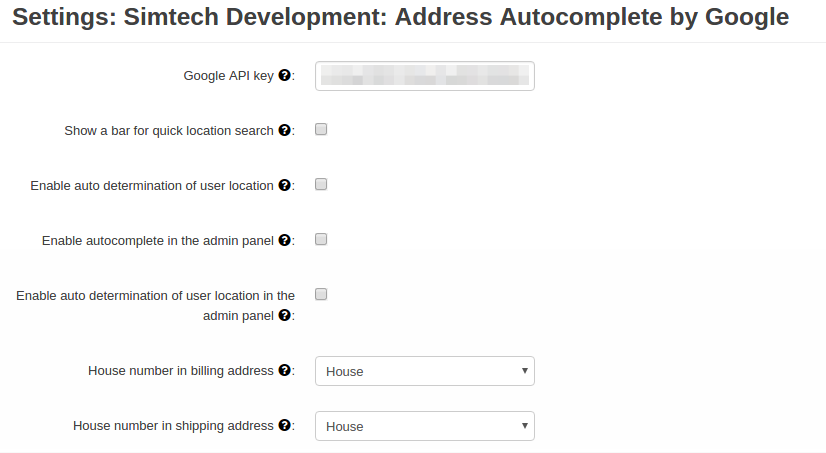 Address Autocomplete by Google add-on for CS-Cart