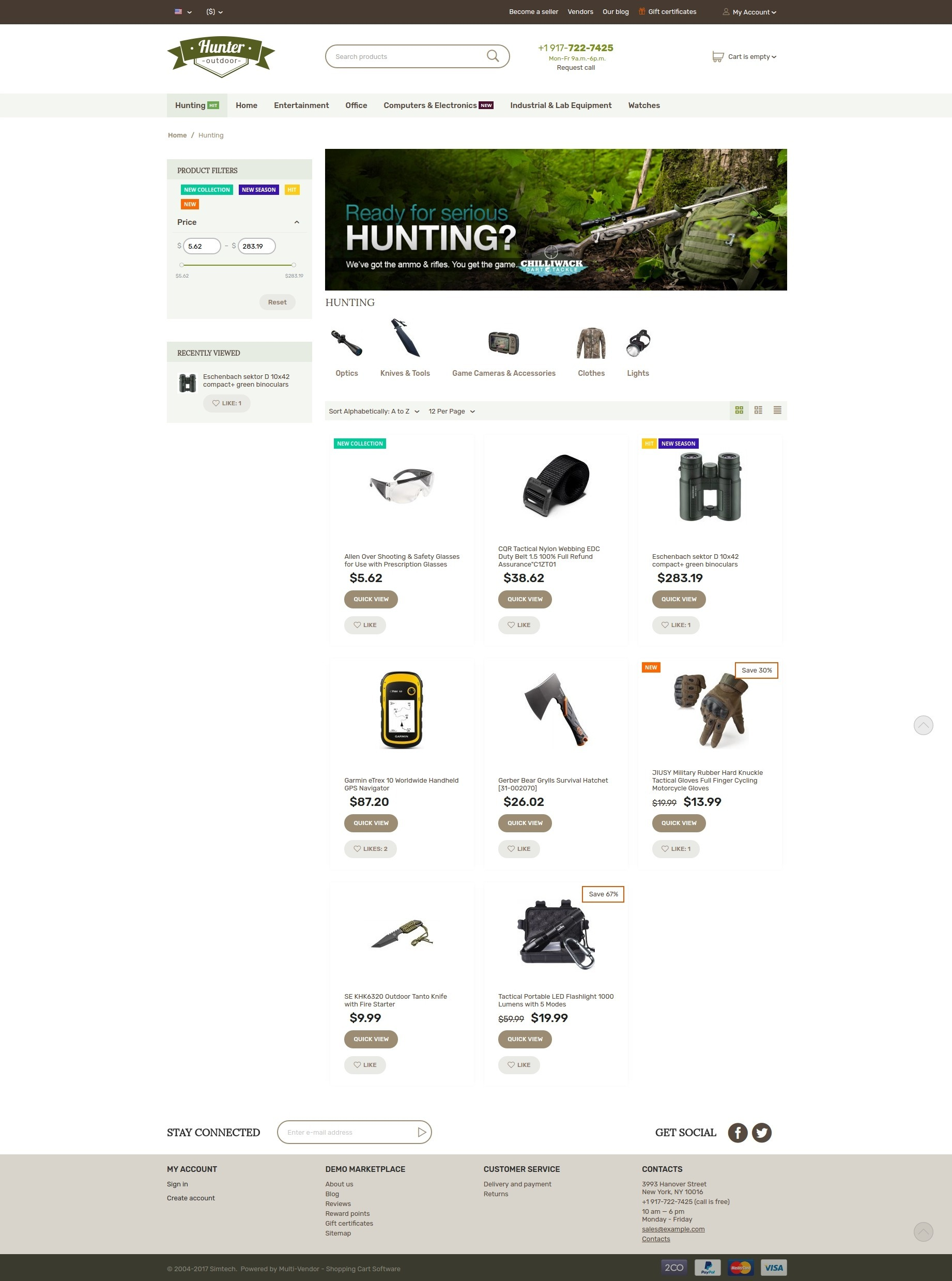 hunter-theme-catalog-page