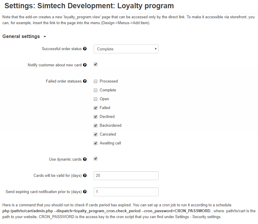 loyalty-program-settings
