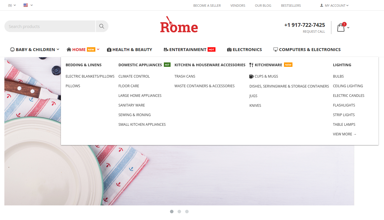rome-theme-amazon-style-menu