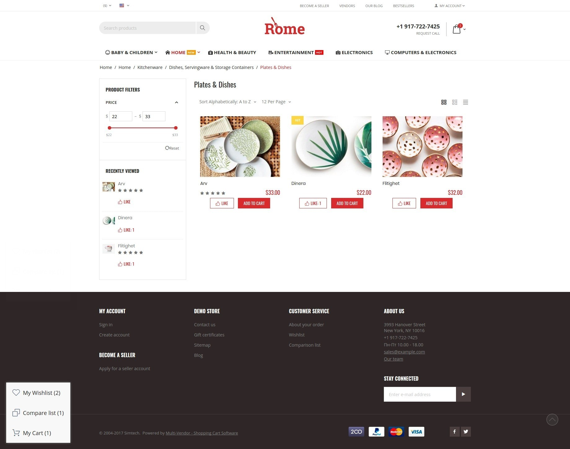 rome-theme-catalog-page