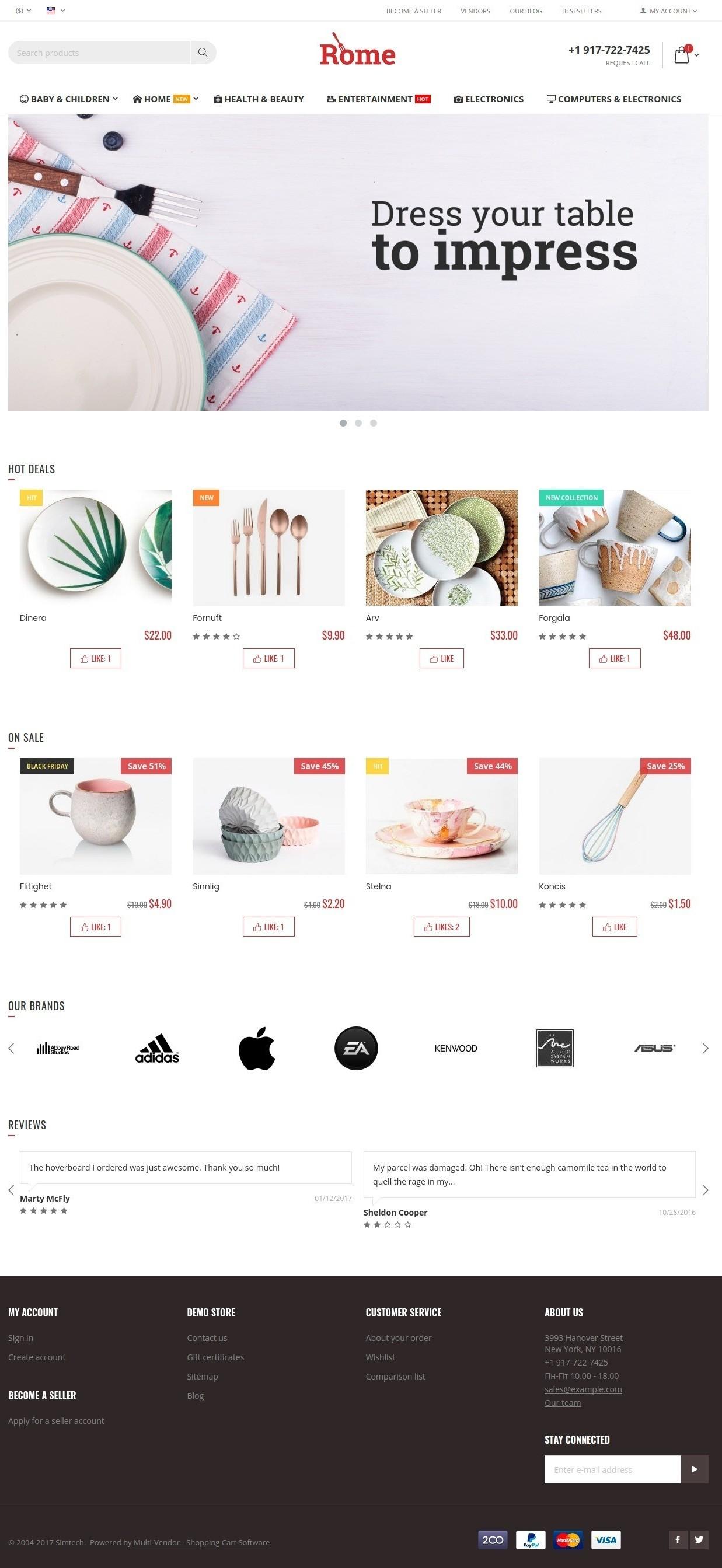 rome-theme-homepage