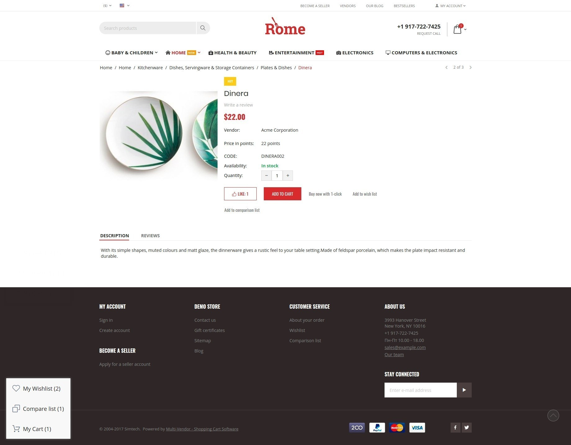 rome-theme-product-page