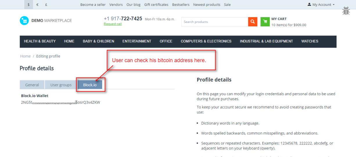 CS-Cart Block io Bitcoin Wallet | Bitcoin Wallet Payment For
