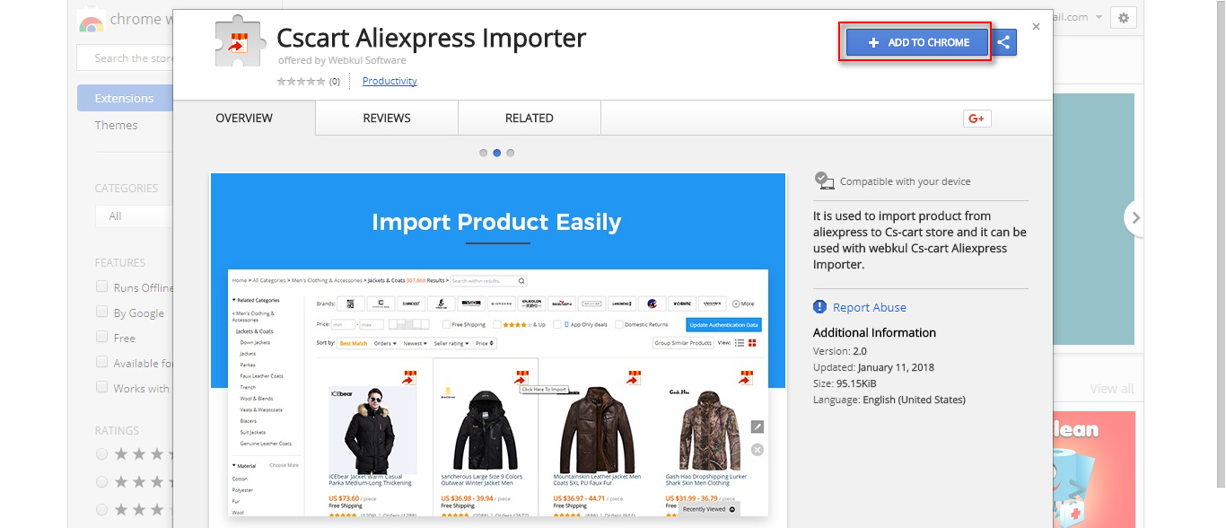 CS-Cart Aliexpress Dropshipping | Product Importer | Order