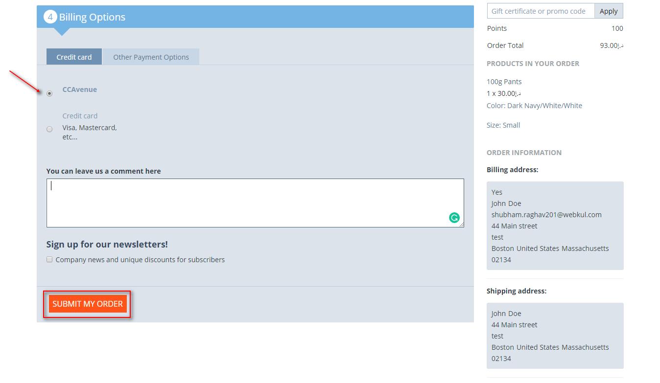 CS-Cart CCAvenue Payment Gateway | CCAvenue Integration For