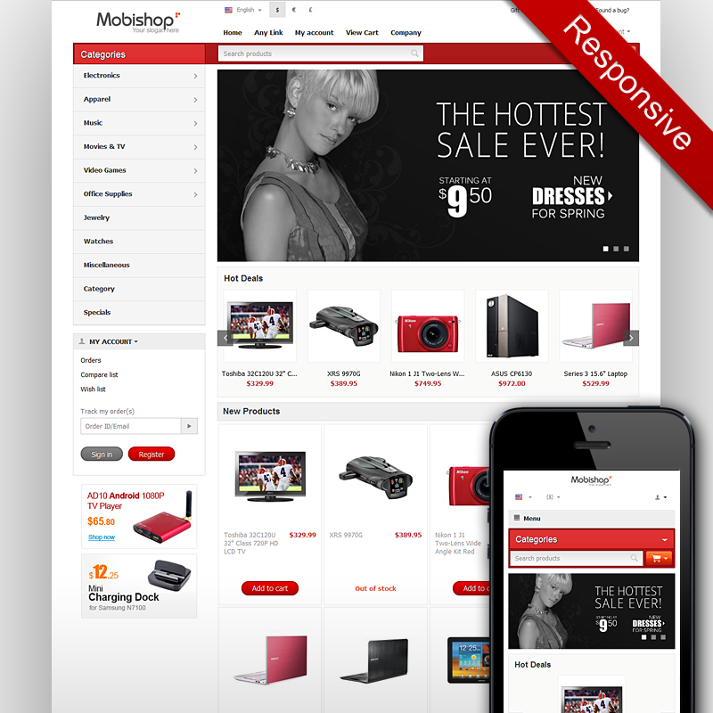 2 Column Responsive Email Template
