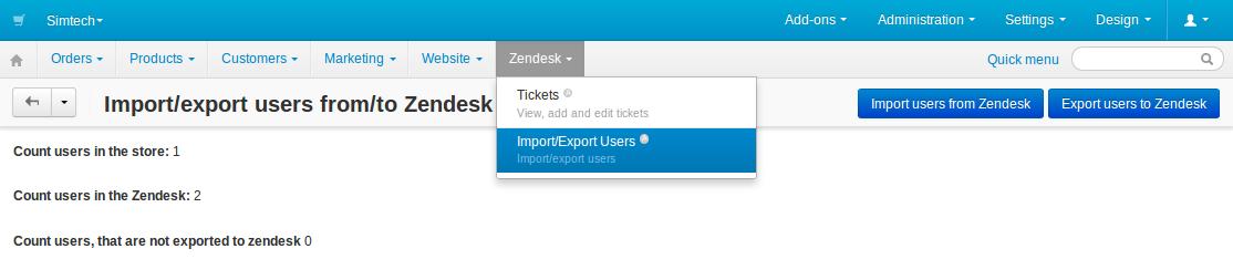 CS-Cart add-on: Zendesk