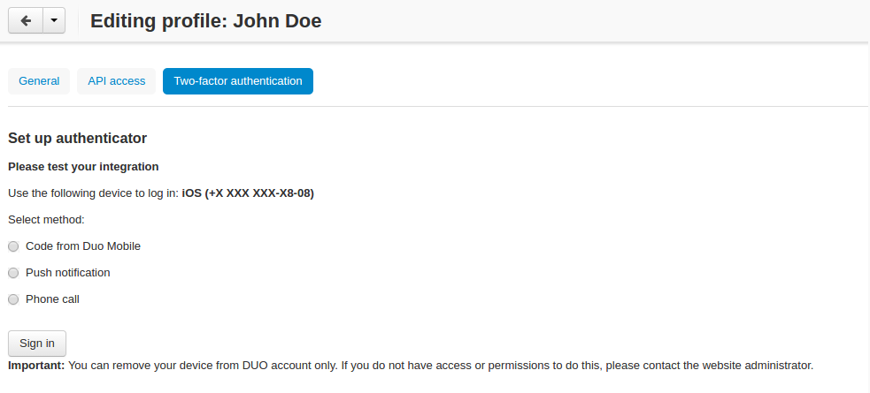 Two-Factor Authentication by Duo add-on for CS-Cart