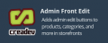 Admin Front Edit for Products, Categories, & More