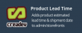 Adds support for lead time on a per-product basis