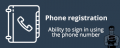 Phone registration
