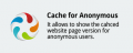 Cache for Anonymous Users CS-Cart add-on