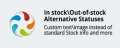 In stock/Out-of-stock Alternative Statuses Cs-Cart add-on