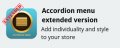 extended accordion menu image