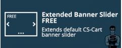 """CS-Cart """"Extended Banner Slider FREE"""" add-on"""