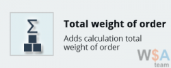 Total weight of order