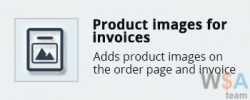 Product images for invoices