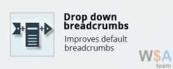 Drop down breadcrumbs