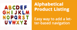 Alphabetical Product Listing