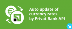 CS-Cart - Auto update of exchange rates using API Privatbank
