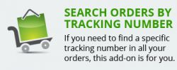 Search orders by tracking number