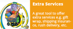 Extra Services (Gift Wrap, Rush Delivery, Shipping Insurance)