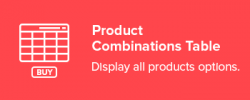 Product Combinations Table