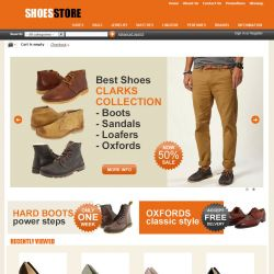 CS-Cart Theme cs000002 Shoes Orange