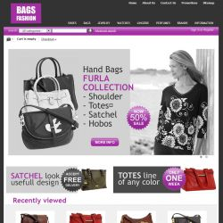 Home Page - CS-Cart Theme cs000005 Bags Lilac