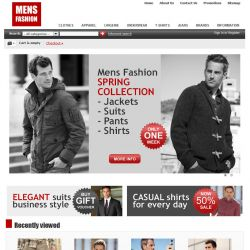Home Page - CS-Cart Theme cs000007 Apparel Ruby