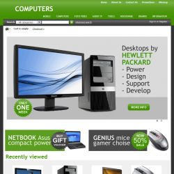 Home Page - CS-Cart Theme cs000008 Computers Grass