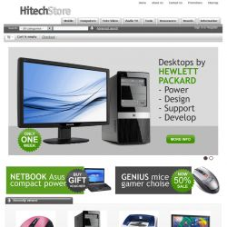 Home page - CS-Cart Theme csfree001 Computers Gray