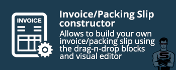 """CS-Cart """"Invoice/Packing Slip Constructor"""" add-on"""