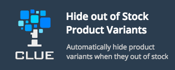 Hide out of stock product option combinations
