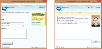 LiveHelpNow Chat Window