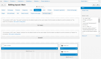 Checkout in Admin Panel