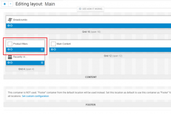 Add the filter block on the layouts page in the categories tab