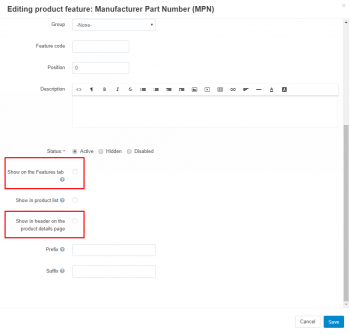Creating MPN or GTIN feature