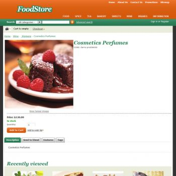 Product Page - CS-Cart Theme cs000010 Food Orange
