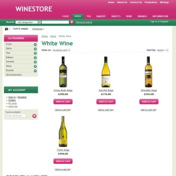 Category of Products - CS-Cart Theme cs000011 Wine Rose