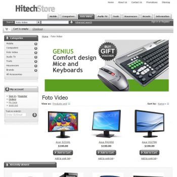 Category of Products - CS-Cart Theme csfree001 Computers Gray
