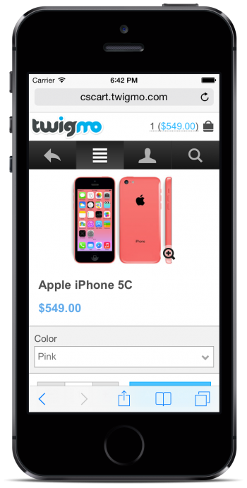 Twigmo Product Option Color