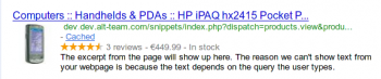 Rich Snippets in search results 2