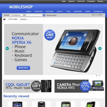 Home Page - CS-Cart Theme cs000009 Mobile Marine