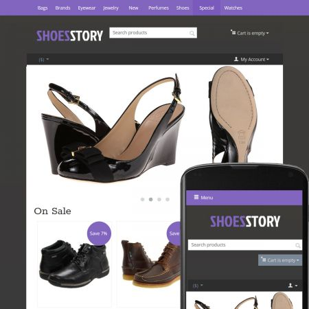 CS-Cart 4 Theme Streets Shoes Violet