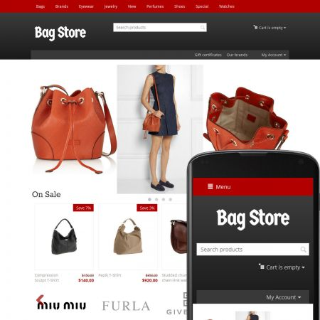CS-Cart Theme Streets Bags Ruby