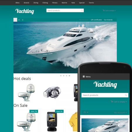 CS-Cart Theme River Yachting Azure