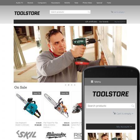 CS-Cart Theme Avenues Tools Gray